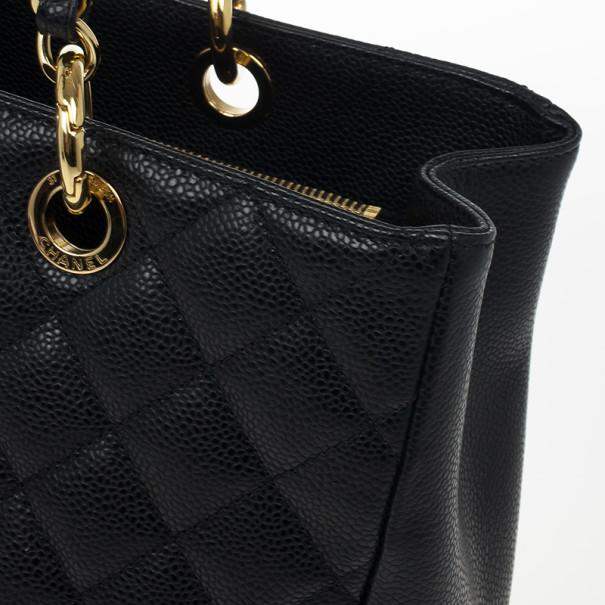 Chanel Black Caviar Grand Shopper Tote