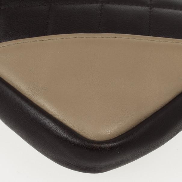 Chanel Black & Beige Mini Calfskin Leather Ligne Cambon Bowler Tote