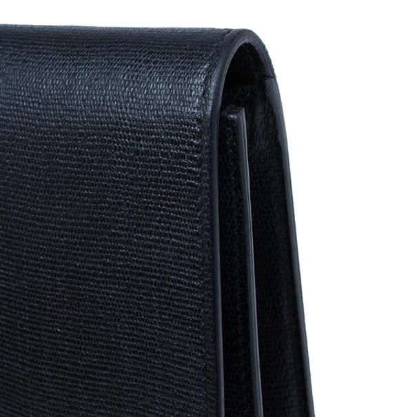 Saint Laurent Paris Black Leather Classic Y Clutch