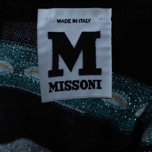 M Missoni Multicolor Shift Belted Knit Dress M