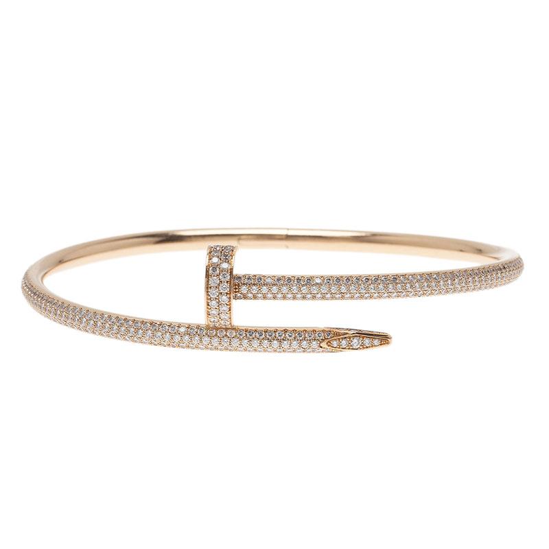 Cartier Juste Un Clou Diamond Paved Rose Gold Bracelet 40765 At Best Price Tlc