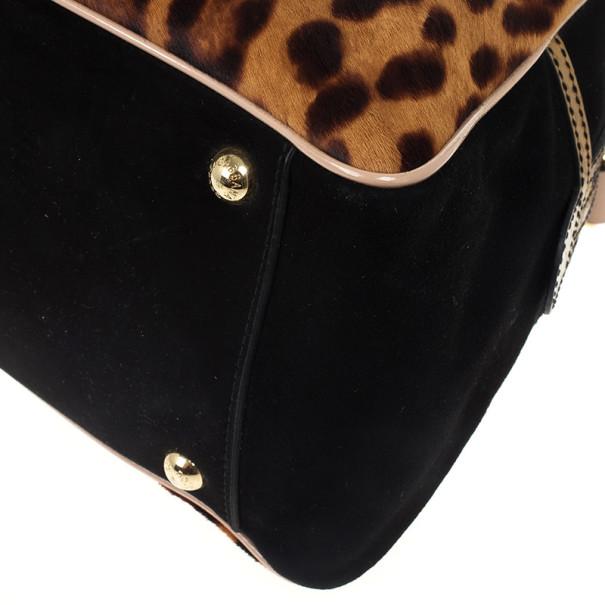 Dolce and Gabbana 'Miss Bizz' Calf Hair Dome Satchel