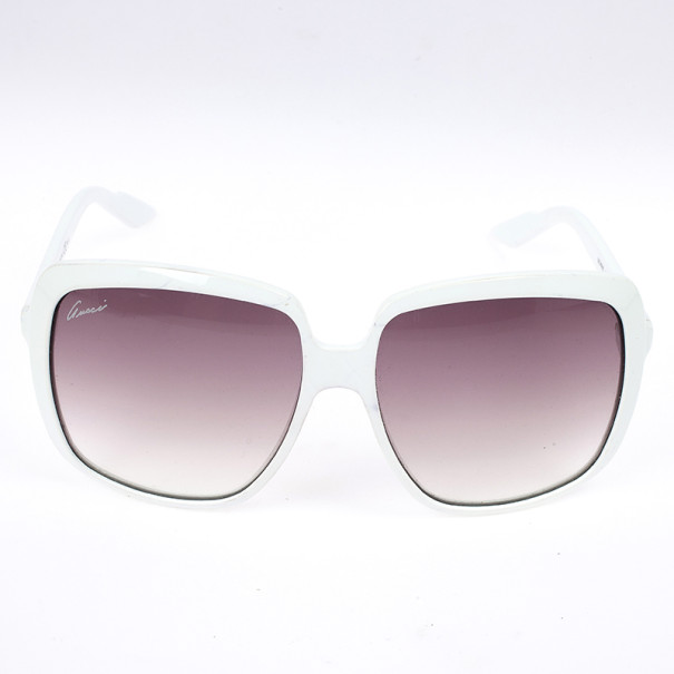 Gucci White GG 3108 Web Detail Square Woman Sunglasses