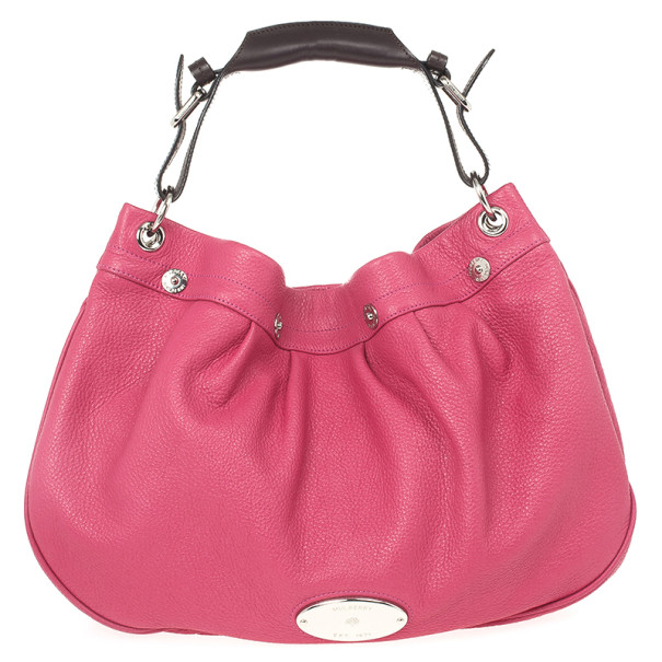 Mulberry Pink Leather Mitzy Hobo
