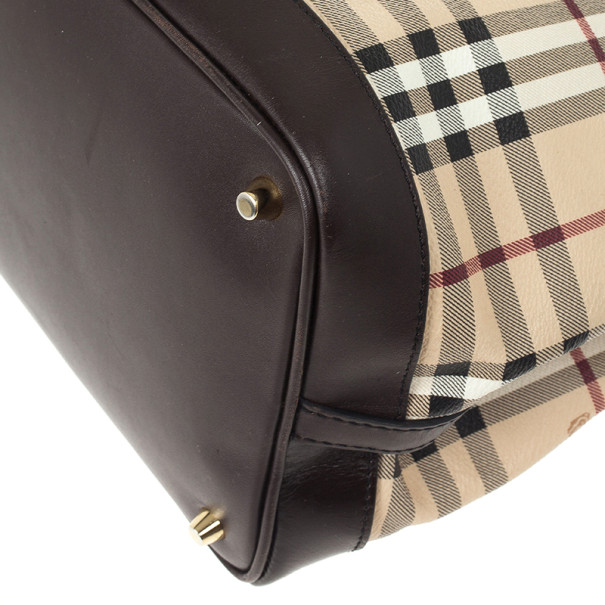 Burberry Medium Haymarket Check Tote Bag
