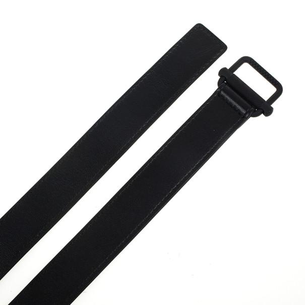 Bottega Veneta Black Leather Skinny Belt