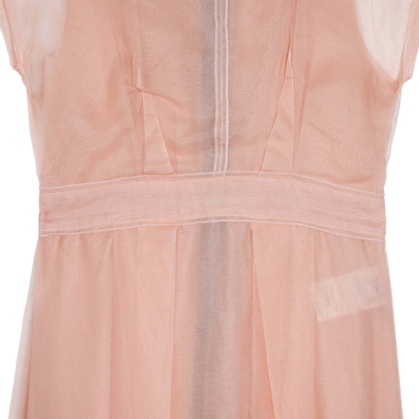Dolce and Gabbana Chiffon Pink Dress M