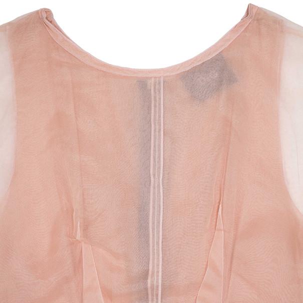 Dolce and Gabbana Chiffon Pink Dress M