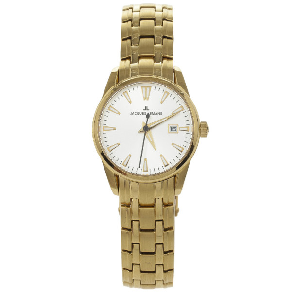 Jacques Lemans Gold Plated 1-1445 Womens Wristwatch 27 MM