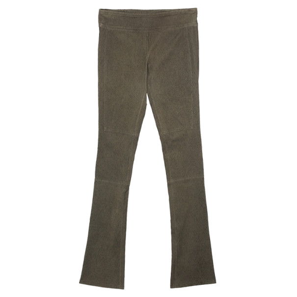 Diane Von Furstenberg Gretel Weathered Leather Pants Size S
