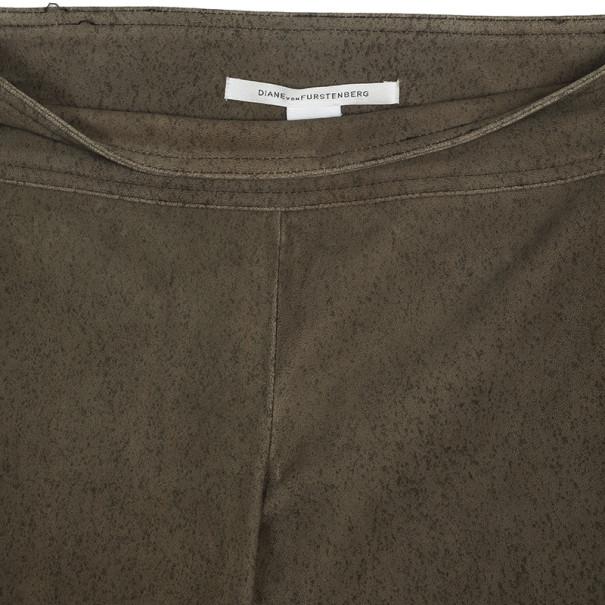 Diane Von Furstenberg Gretel Weathered Leather Pants Size S