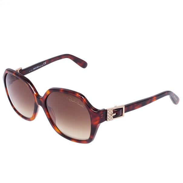Roberto Cavalli Tortoise Frame Pioppo Oversized Womens Sunglasses