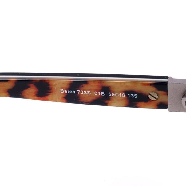 Roberto Cavalli Black & Leopard Frame Baros Unisex Sunglasses