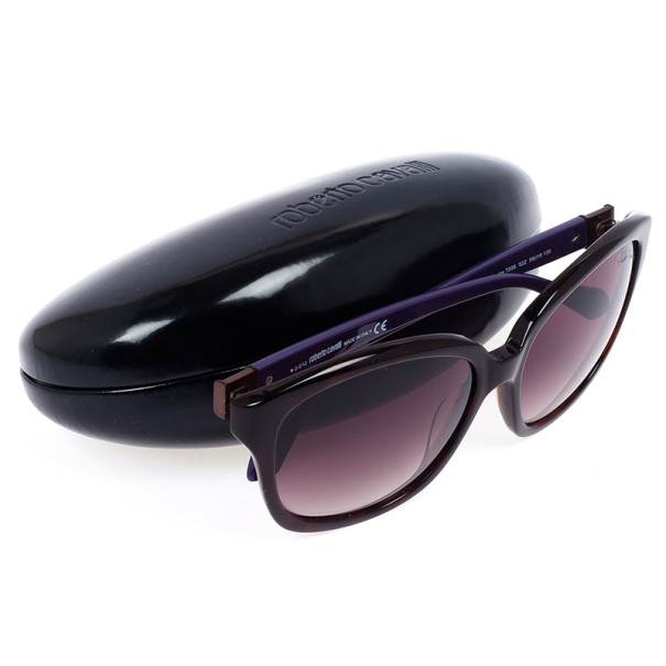 Roberto Cavalli Black & Purple Baros Unisex Sunglasses