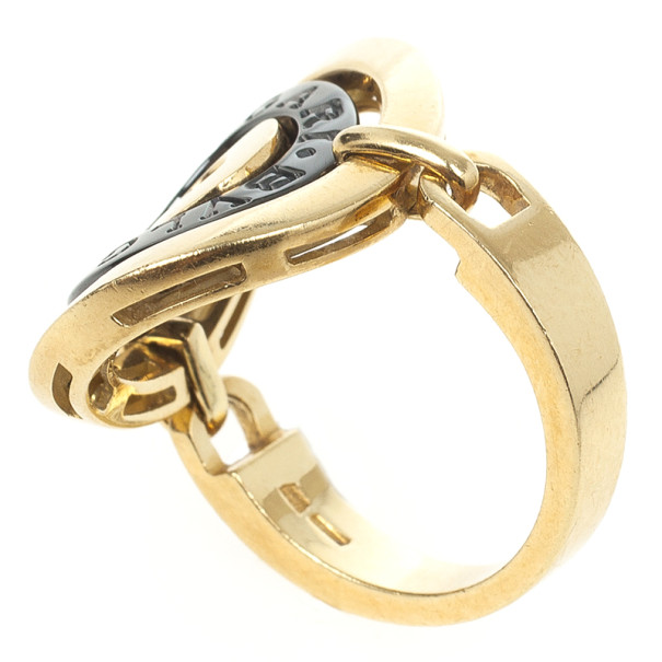 Bvlgari Cerchi 18 K Yellow Gold Ring Size 54.5