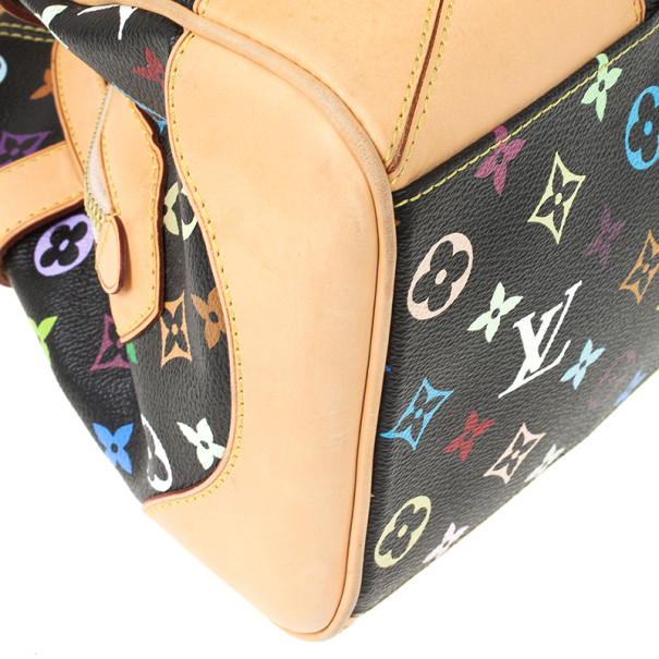 Louis Vuitton Black Multicolor Claudia Satchel