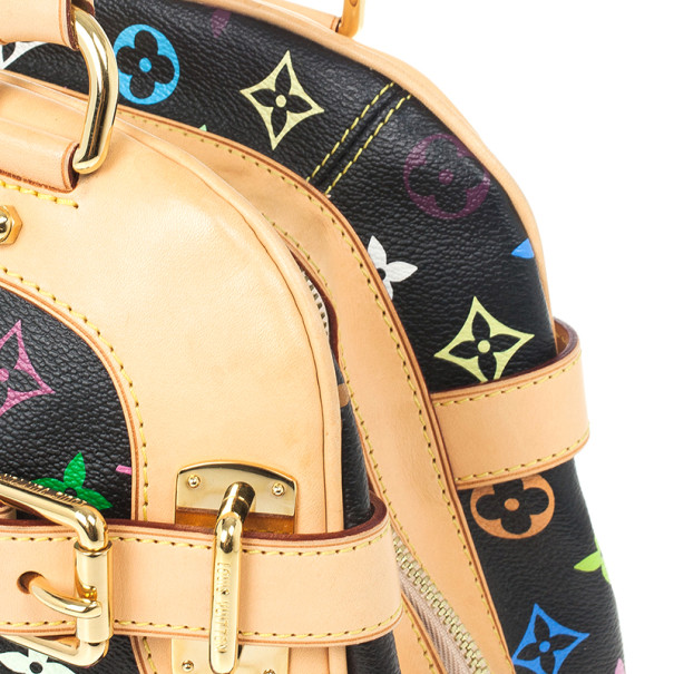 Louis Vuitton Black Multicolor Claudia Satchel