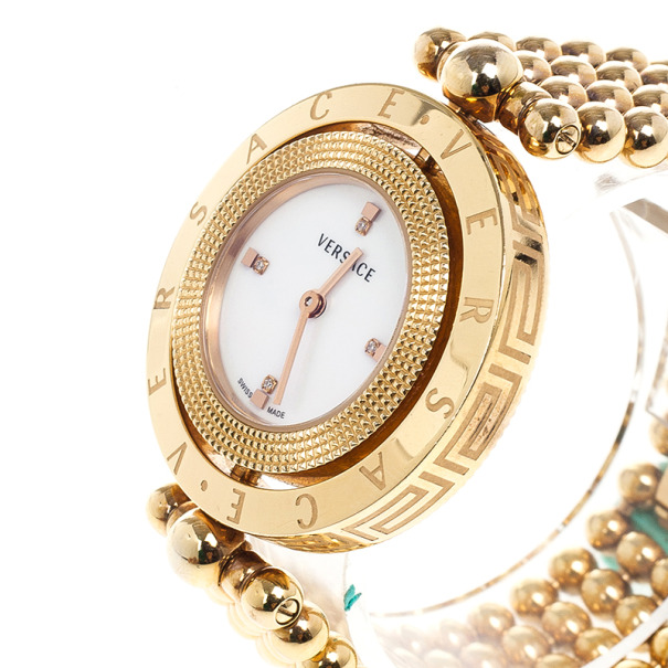 Versace Eon Gold Plated Steel Womens Wristwatch 25M