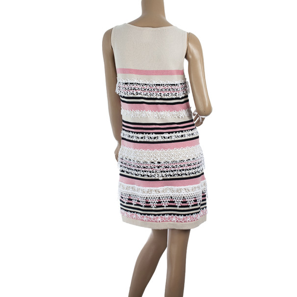 Chanel Resort 2011 Striped Cashmere Dress L
