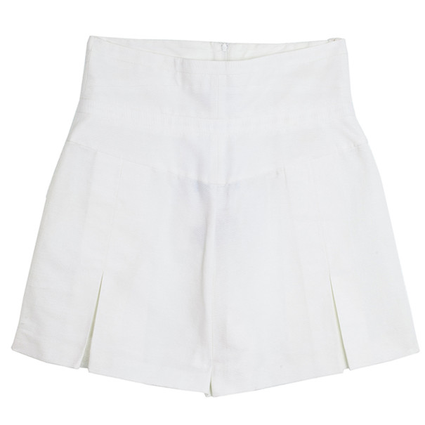 Chanel High Waist Pleated Shorts M