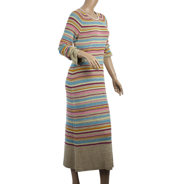 Chanel Resort 2011 Striped Long Sleeve Dress M