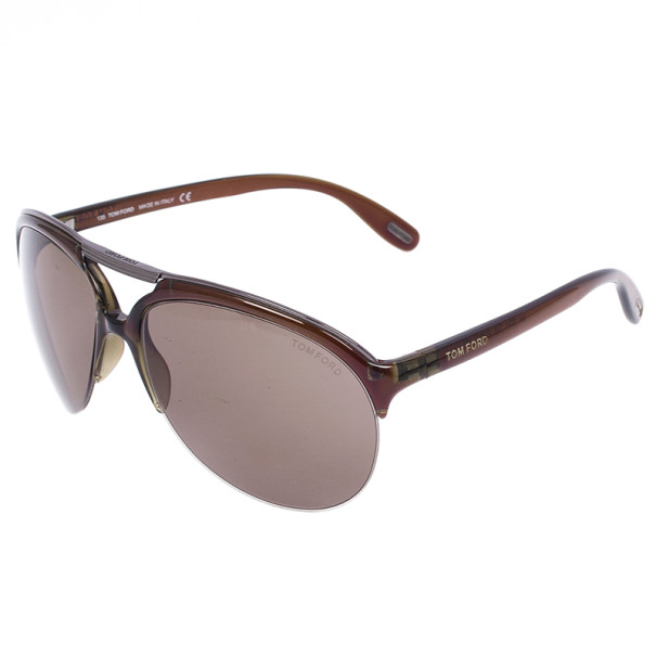 Tom Ford Brown Ian Woman Aviators