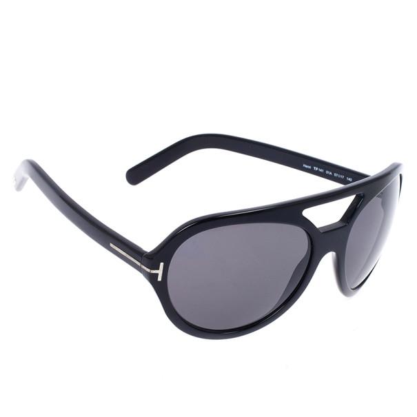 Tom Ford Black Henri Round Unisex Sunglasses