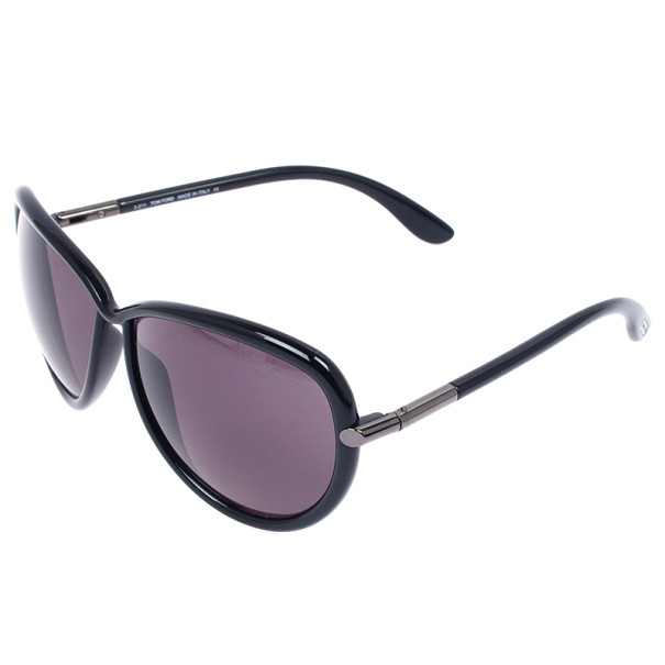 Tom Ford Black Sabrina Round Womens Sunglasses