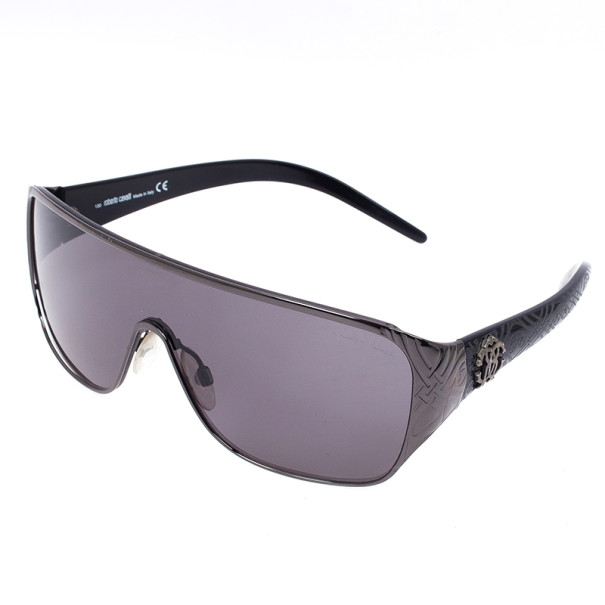 Roberto Cavalli Black Icario Shield Unisex Sunglasses
