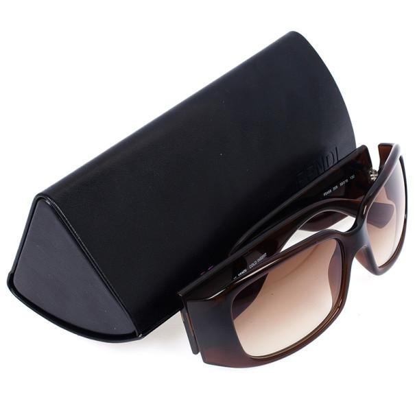 Fendi Brown FS458 Rectangle Logo Womens Sunglasses