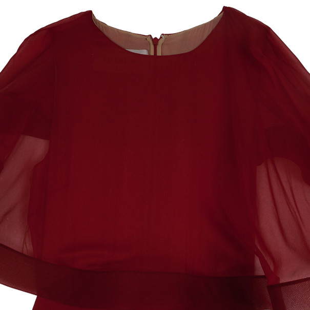 Valentino Cape Red Gown M