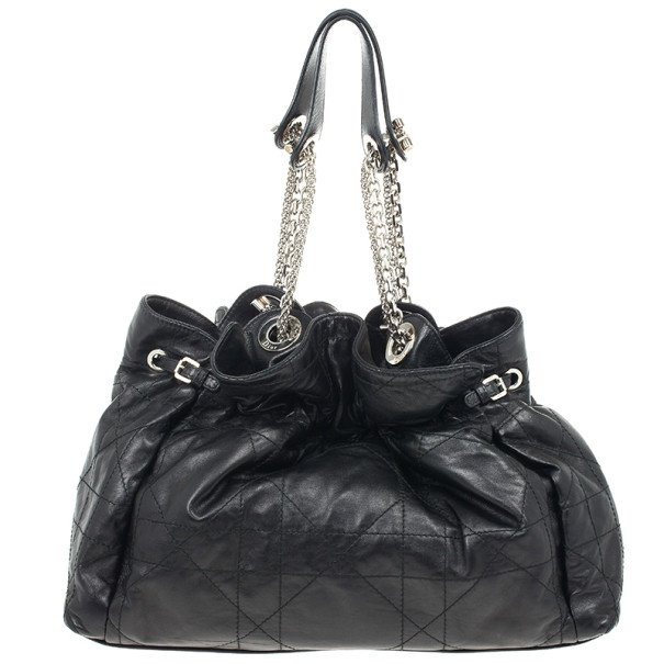 Christian Dior Black Cannage Leather Le Trente Bag