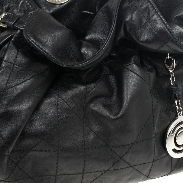 Christian Dior Black Cannage Leather Le Trente Bag