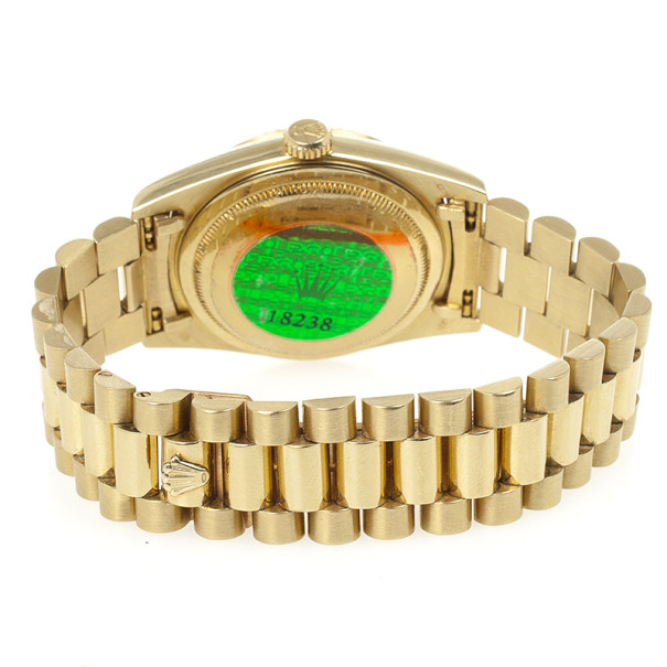 Rolex 18 K Yellow Gold Day Date Unisex Wristwatch 36 MM