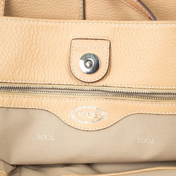 Tod's Tan Leather Grande Shopping Tote