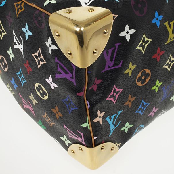 Louis Vuitton Black Multicolor Speedy 30