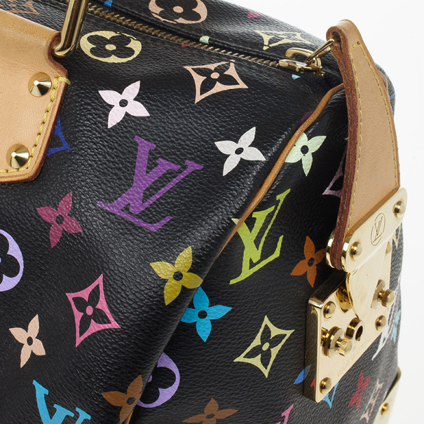 Louis Vuitton Black Multicolor Speedy 30