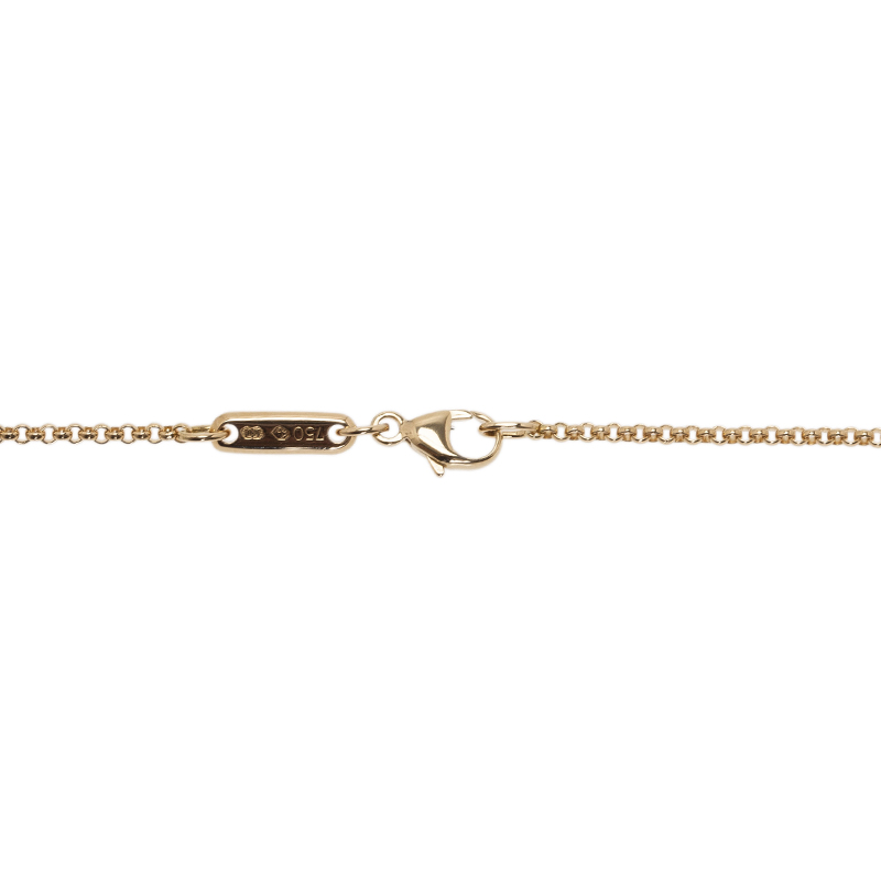 Chopard Miss Happy Yellow Gold And Diamond Pendant Necklace