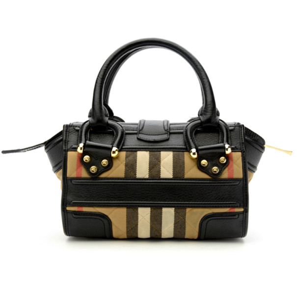 Burberry Quilted House Check Mini Manor Satchel Handbag