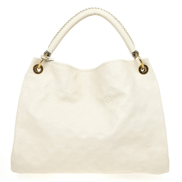 Louis Vuitton White Monogram Empreinte Artsy Hobo MM