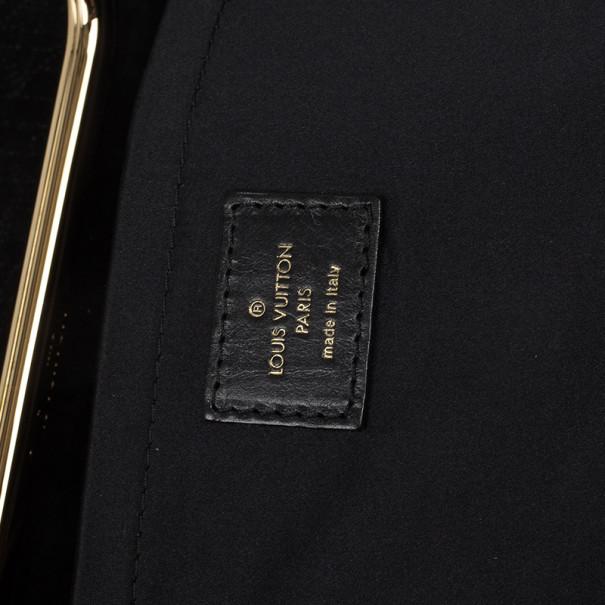 Louis Vuitton Limited Edition Monogram Patent Motard After Dark Clutch