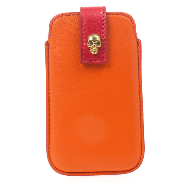 Alexander McQueen Two Tone Skull Embellished iPhone Cover
