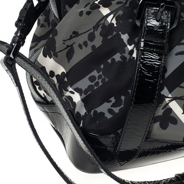 Burberry Floral Check Tote Bag