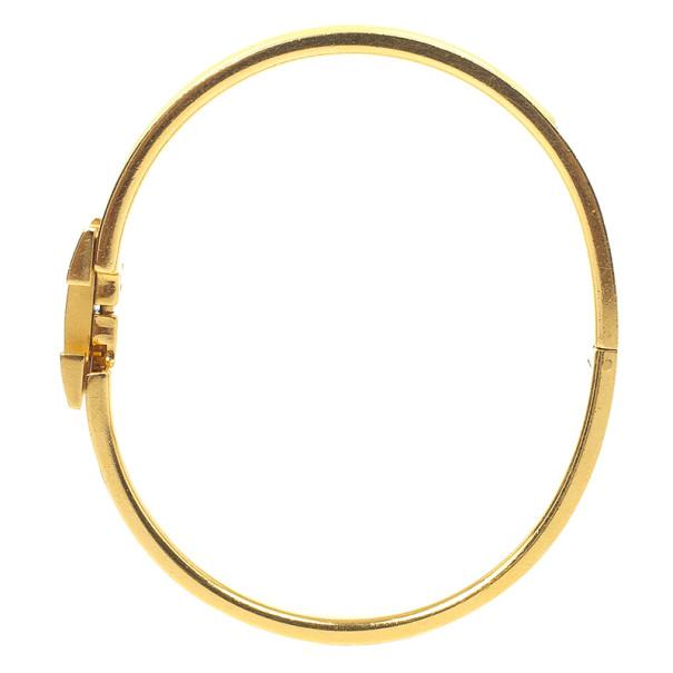 Hermes Clic-Clac H Citron Yellow Enameld Gold Plated Bracelet