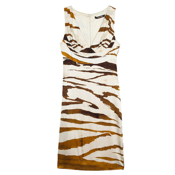 Roberto Cavalli Tigerous Print Dress S
