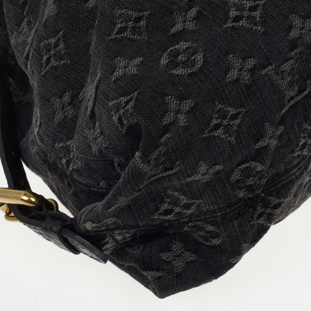 Louis Vuitton Monogram Denim Neo Cabby MM Satchel Handbag