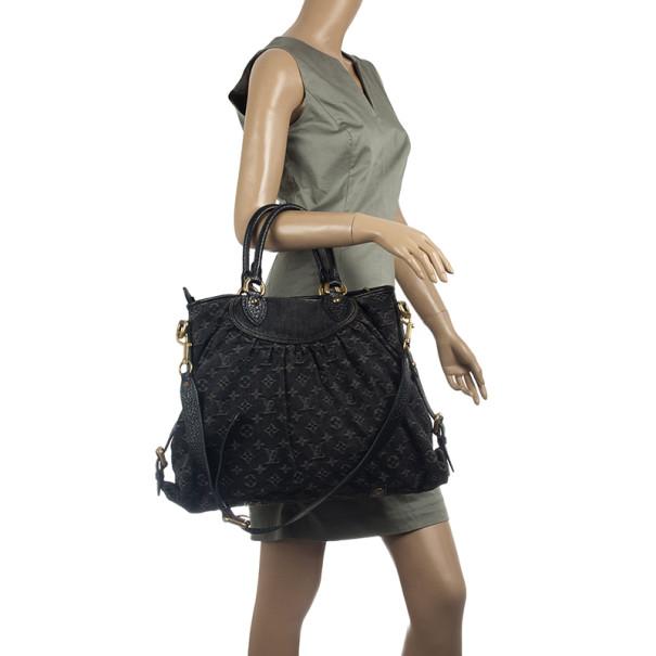 Louis Vuitton Monogram Denim Neo Cabby MM Satchel Handbag