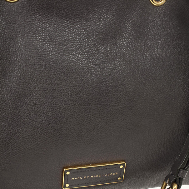 Marc by Marc Jacobs Grey Too Hot To Handle Ultimate Leather Tote