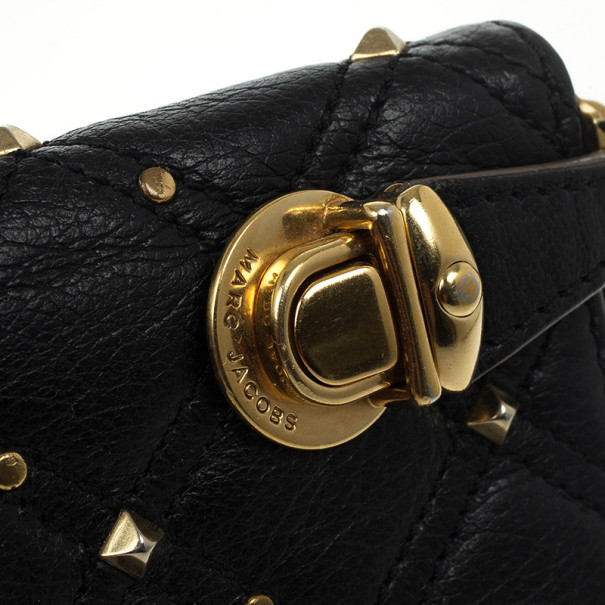 Marc Jacobs Quilted Zip Black Phyton-Effect Leather Wallet