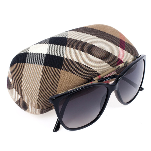 Burberry Check Wrapped Cat Eye Womens Sunglasses
